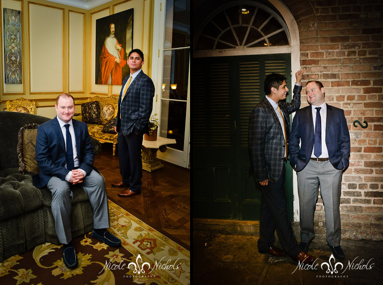 Newlyweds at Hotel Mazarin in New Orleans French Quarter