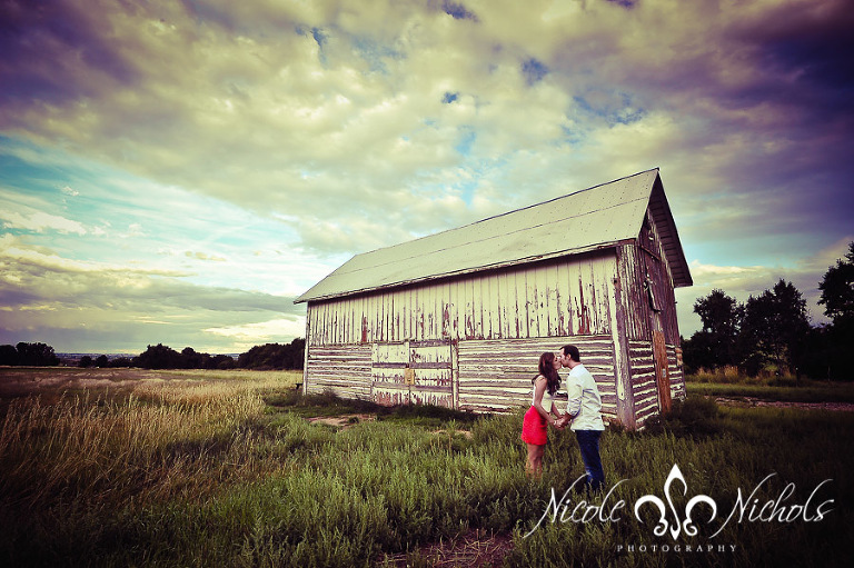 Stealing a Kiss by the Barn