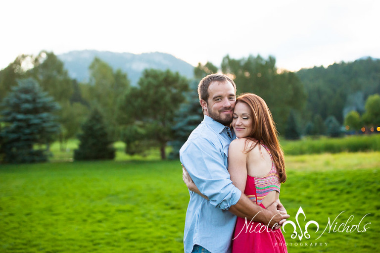 Romance at Sunset in Evergreen