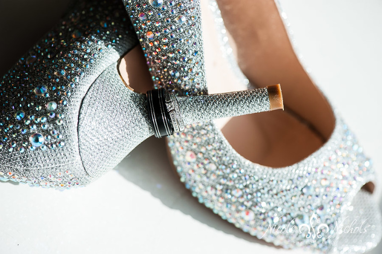 picture of sparkly shoes and sparkly wedding rings